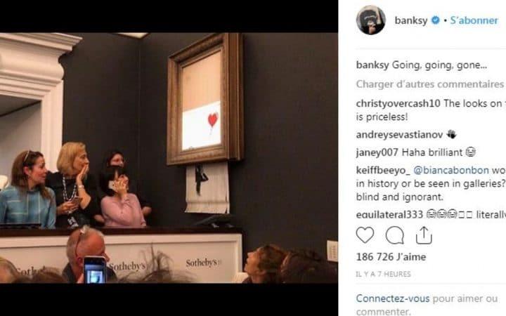 Banksy-auto-detruit-enchères-instagram