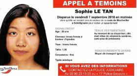 Disparition Sophie le Tan et enquête