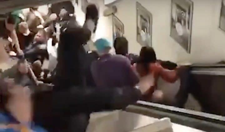 un Escalator s'écroule à Rome