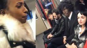 déguisement noir homme raciste métro