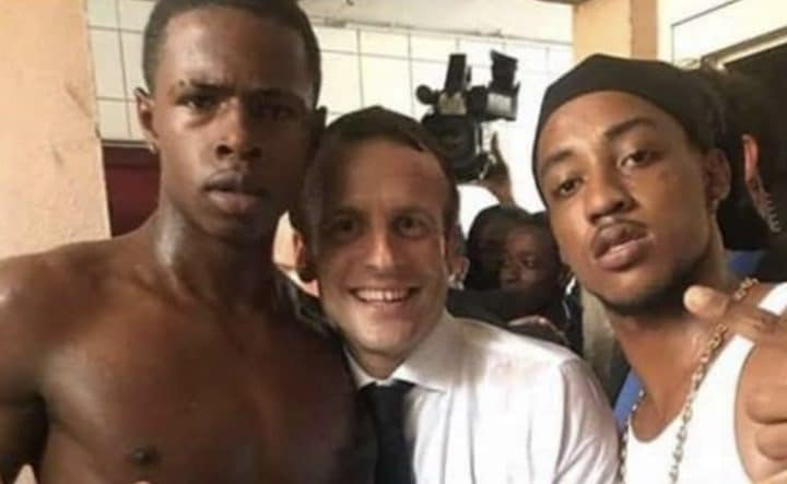 Emmanuel Macron photo polémique