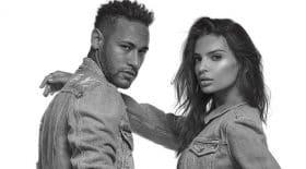 Neymar et Emily Ratajkowski publicité replay