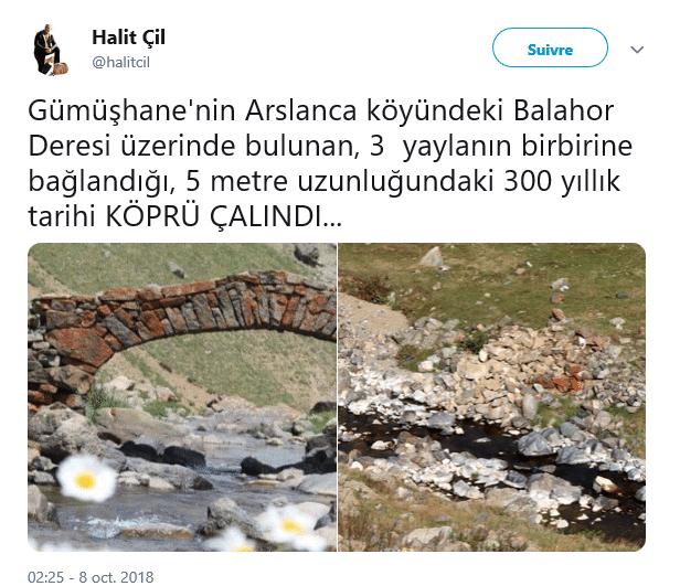 un pont volé