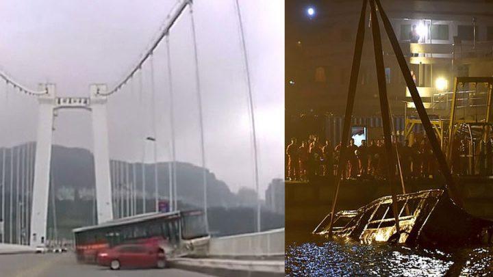 dispute chauffeur de bus accident pont chine