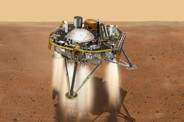 Atterrissage de la sonde Inisght sur Mars
