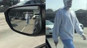 déguisement patient hôpital psychiatrique évadé zombie momie route