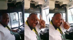 chauffeur de bus dangereux selfie