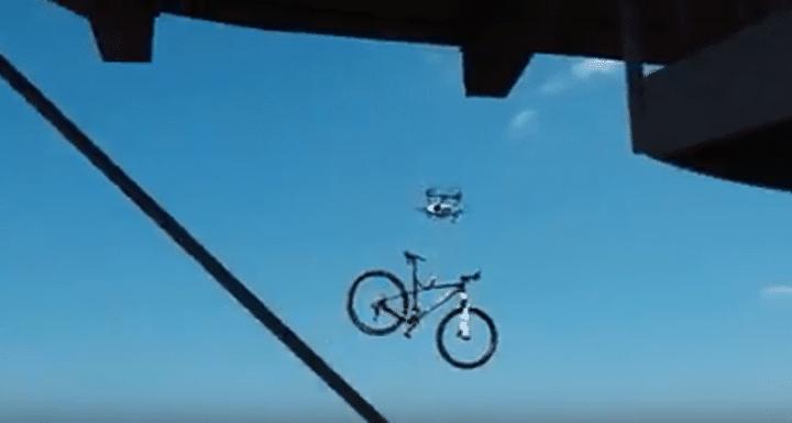 drone vole velo