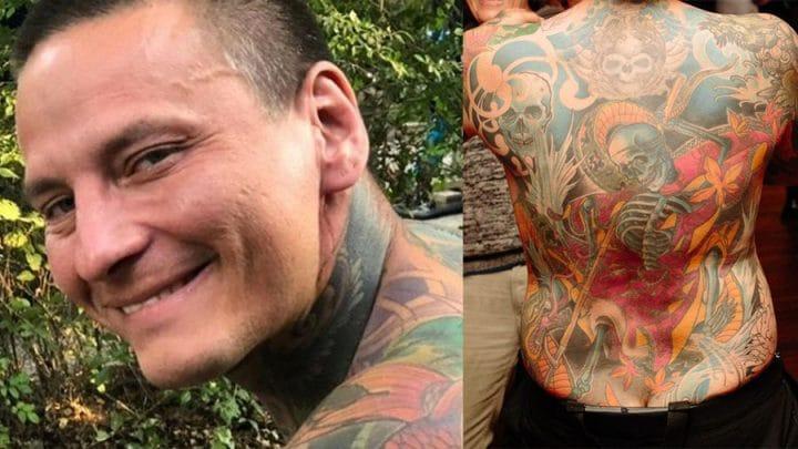 écorcher peau tatoueur mort