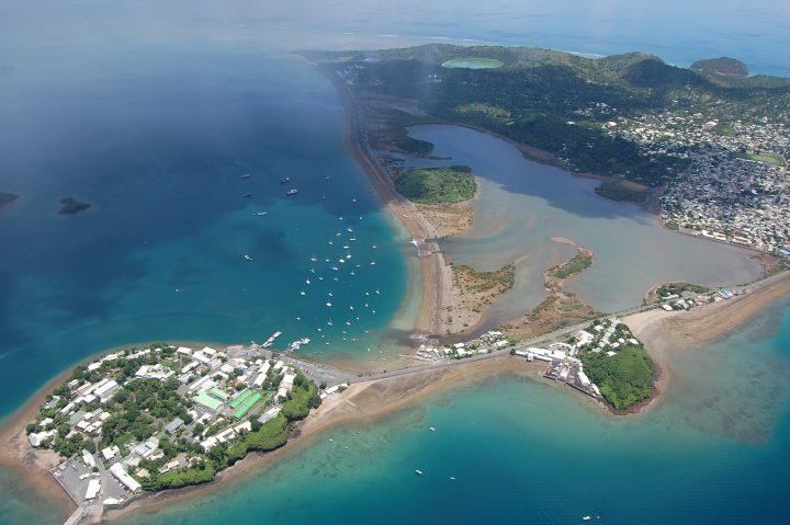 Vue aérienne de Mayotte