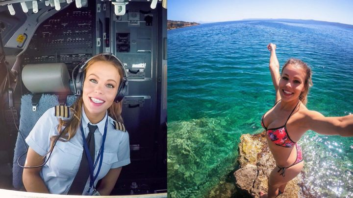 pilote d'avion femme sexy influenceuse