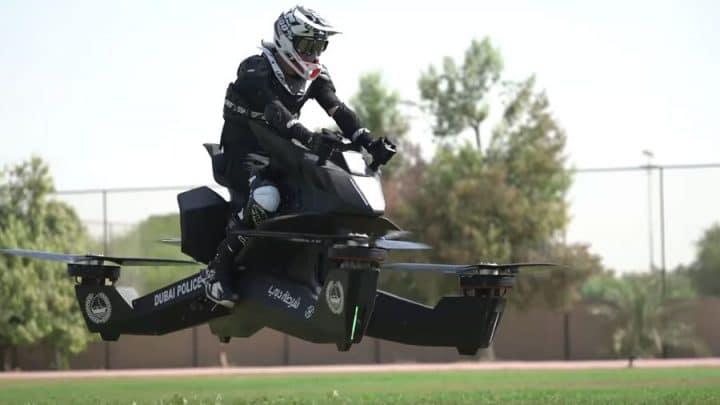 motos volantes police de dubaï hoverbikes