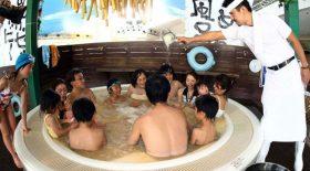 bain de nouilles au japon