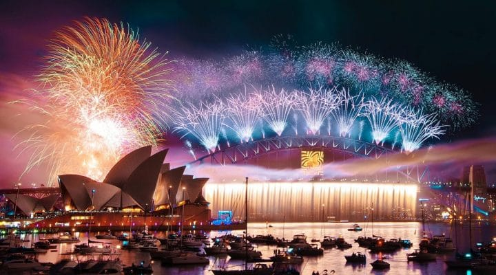 Sydney feux d'artifices