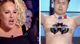 Un candidat se met nu dans l'émission La Ffrance a un incroyable talent