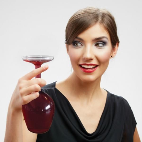 verre vin envers