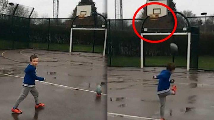 ballon de rugby panier de basket