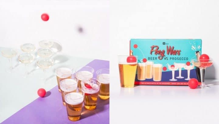 Bière prosecco pong