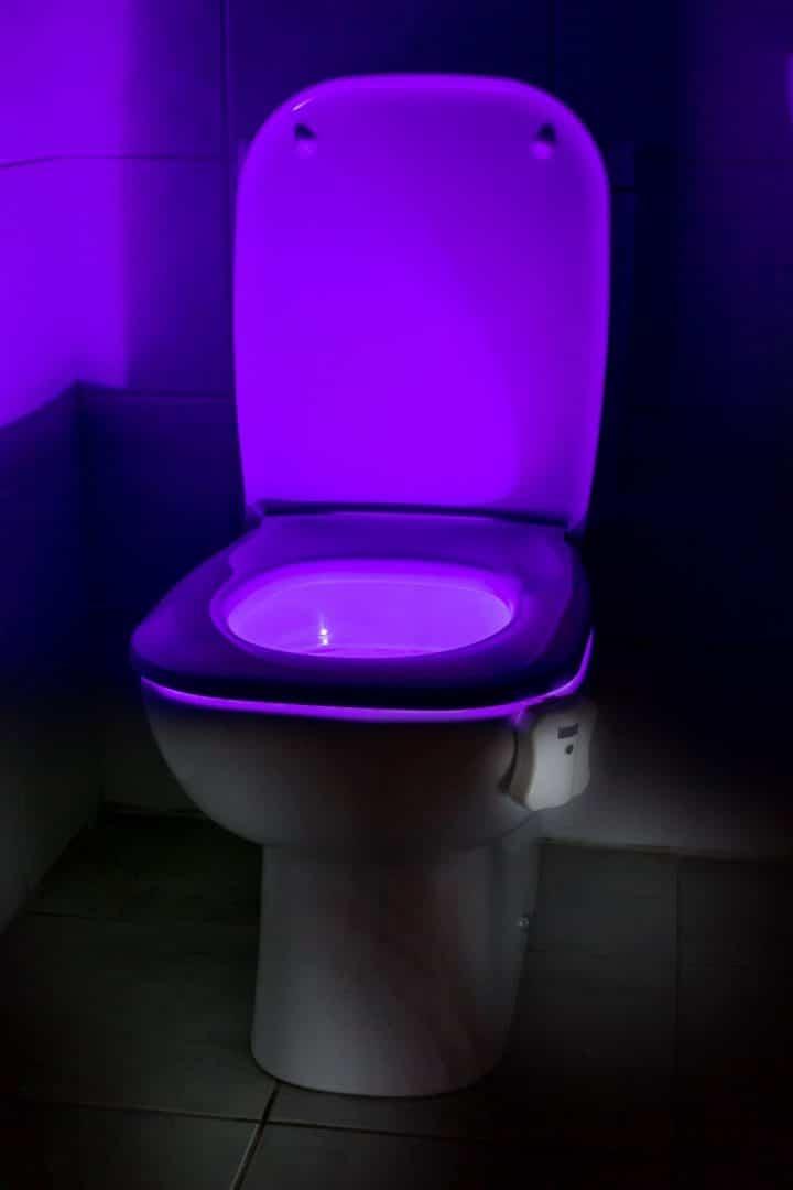 Boule toilette lumineuse