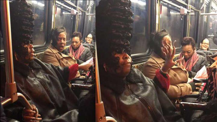 coiffure marge simpson dispute dans un bus