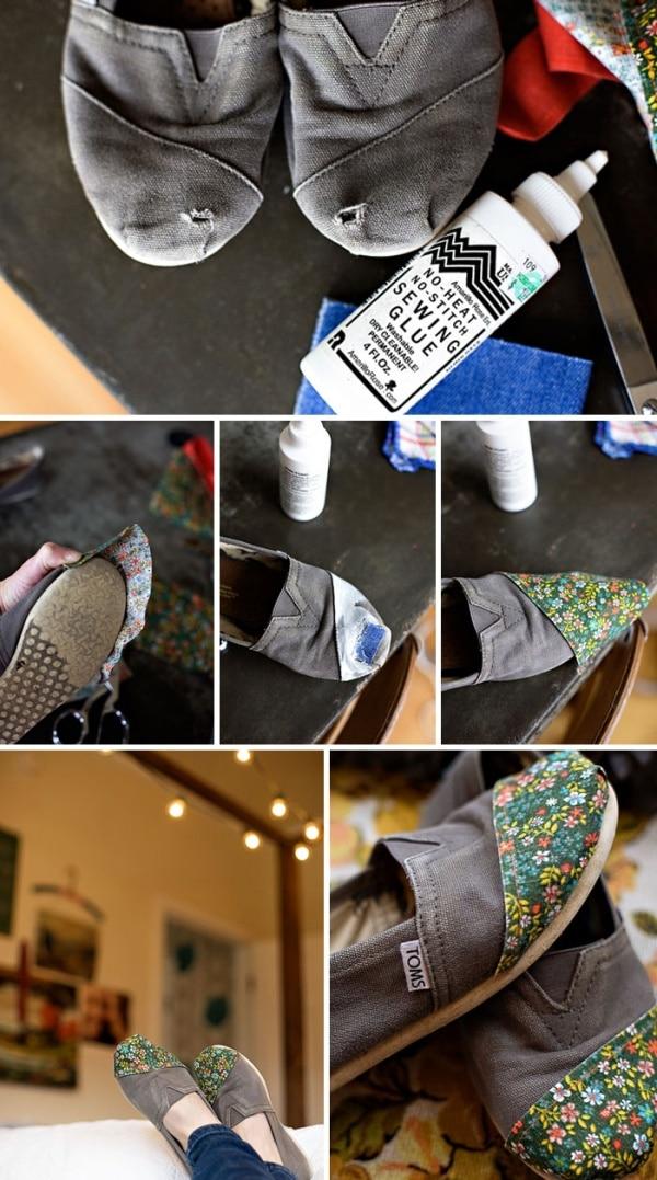 sandale réparée
