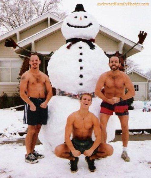 famile noel bonhomme de neige