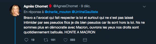 Honte a Macron tweet