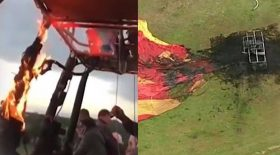 montgolfière prend feu incendie