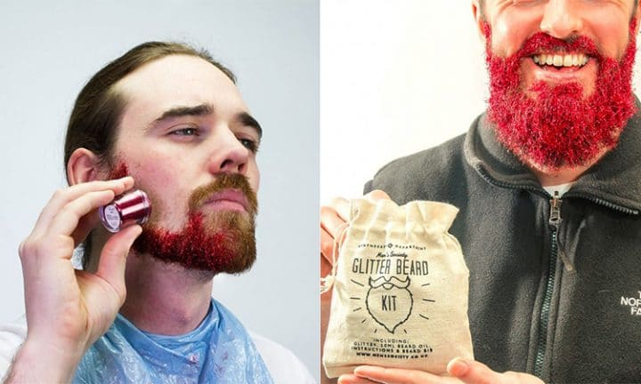 paillettes barbe