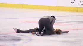 patineuse rate porté accident patinage artistique
