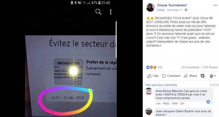 Post fb BFM attentat
