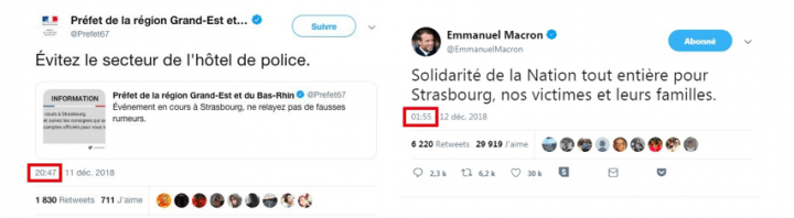 Posts tweeter attentats