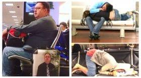 mini scènes à l'aéroport
