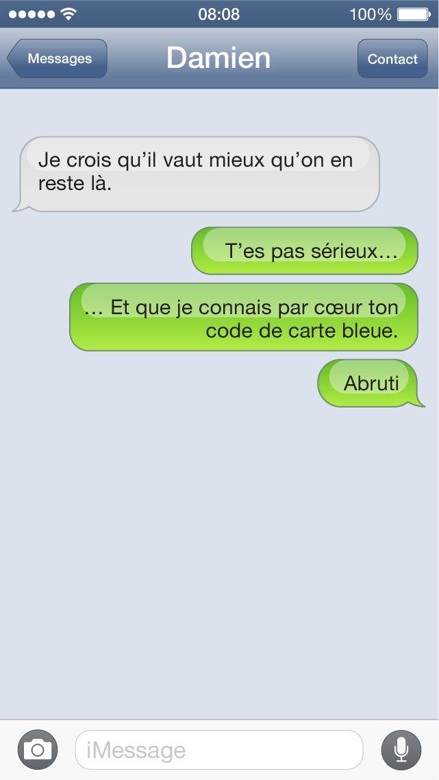 SMS carte bleue