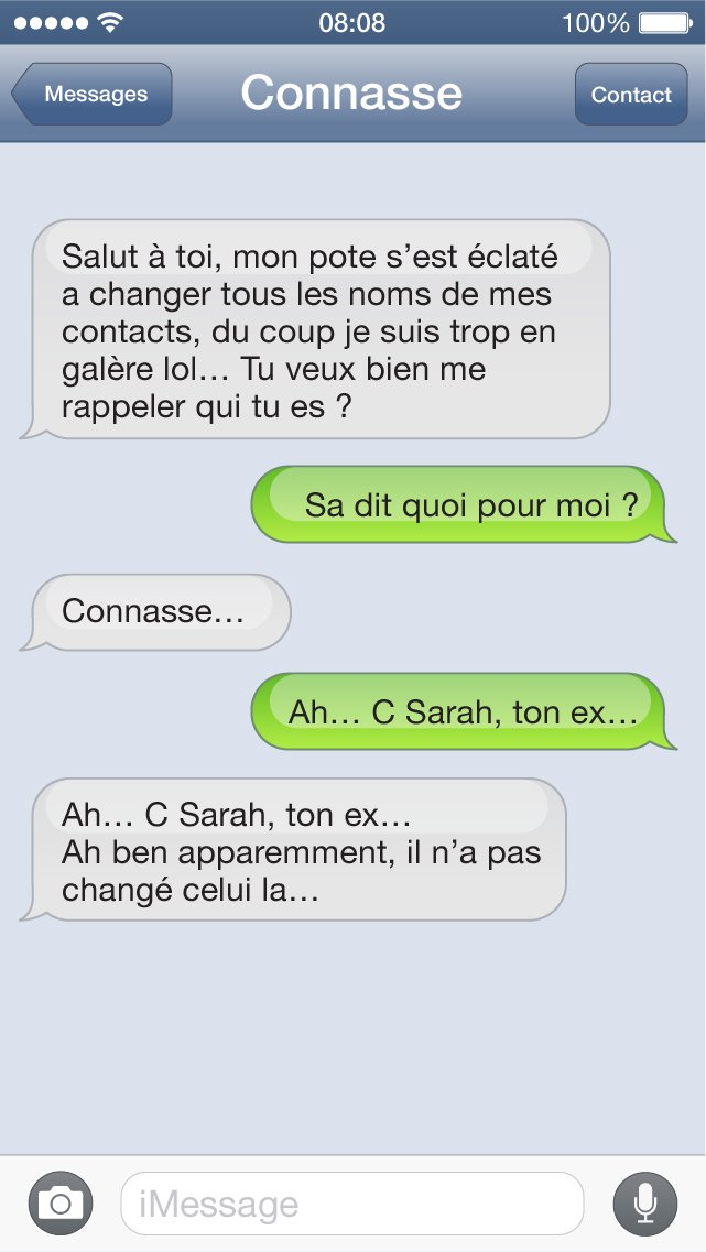 SMS connasse