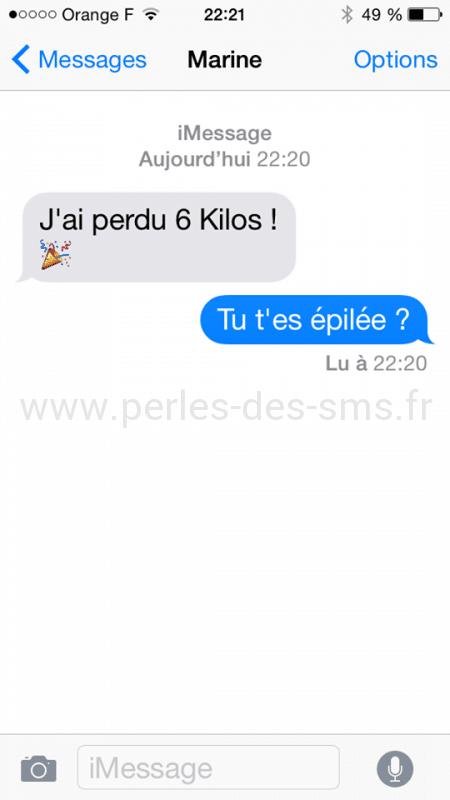SMS épilation