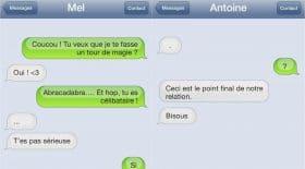 Larguer par sms