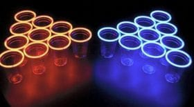 beer pong lumineux