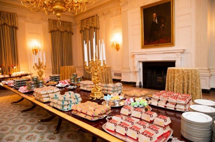 Burgers à la Maison Blanche
