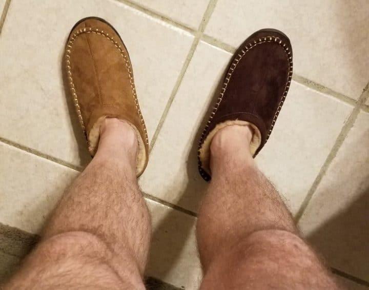chaussons dépareillés
