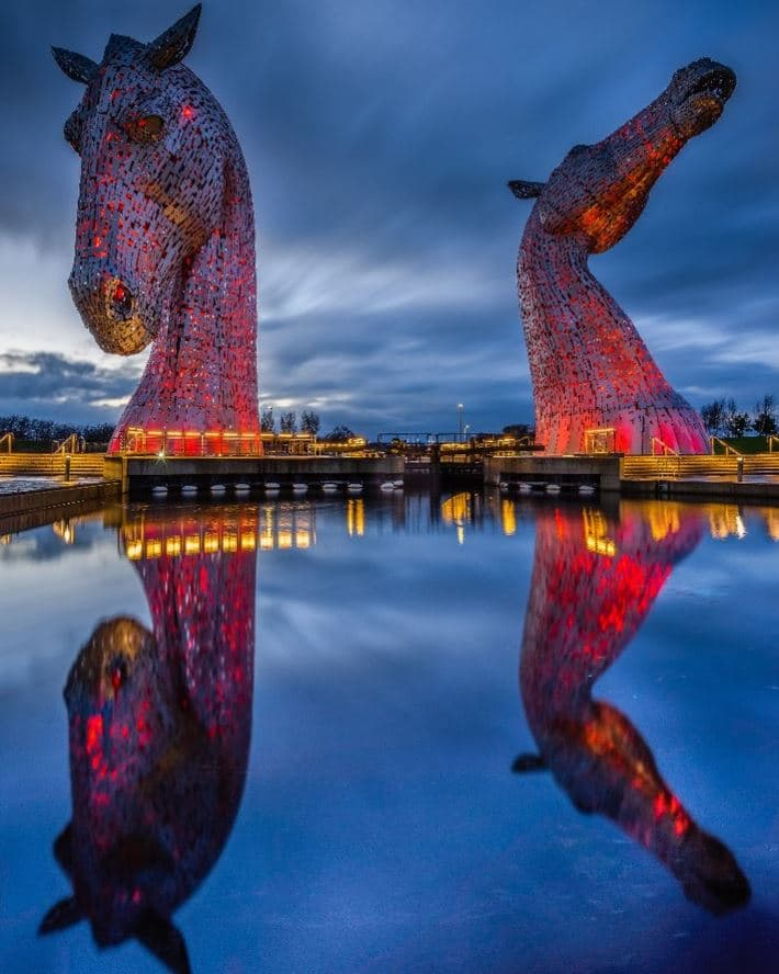 sculpture chevaux géants
