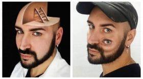 Collage makeup illusion