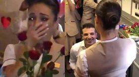 demande en mariage hôtesse de l'air