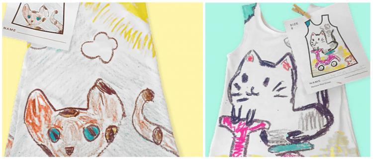 Cette société permet aux enfants de porter leurs dessins en vêtements