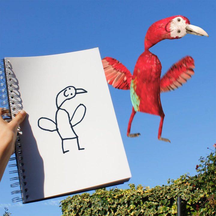 dessins-pere-fils-animaux