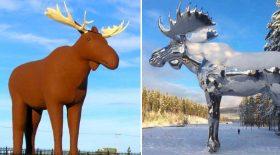 guerre des statues d'élans