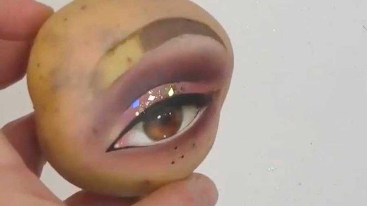 maquillage de pommes de terre