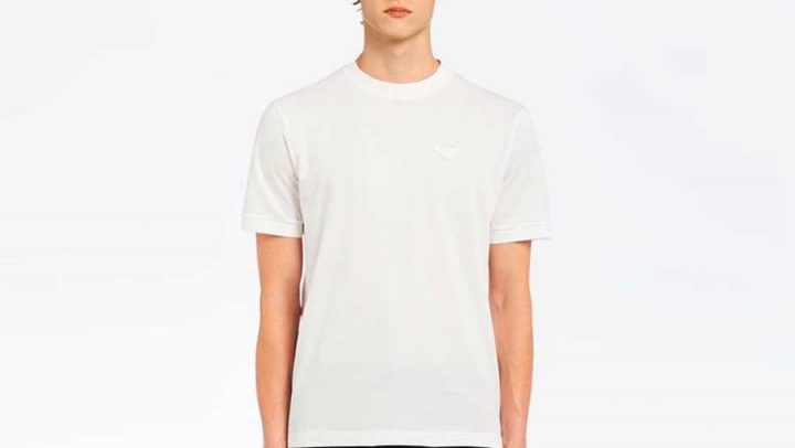 t-shirt blanc prada prix