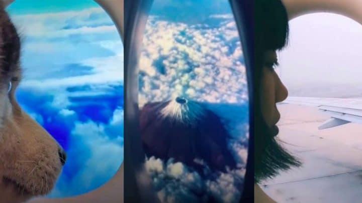 challenge prend l'avion illusion lunettes des WC