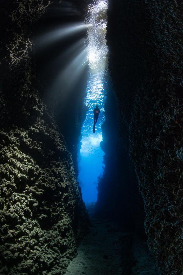 Crevasse sous-marine